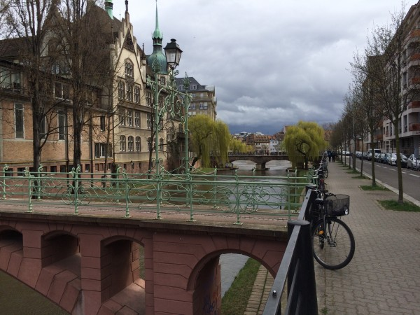 The canal in Strasbourg gives the city a relaxed feeling.